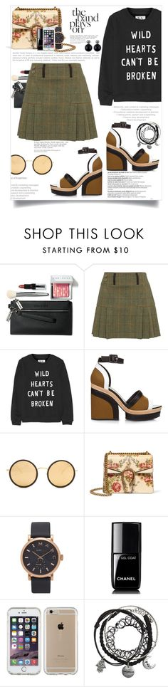 """""""Untitled #230"""" by natalie1523 ❤ liked on Polyvore featuring Bobbi Brown Cosmetics, Zoe Karssen, Pierre Hardy, Linda Farrow, Gucci, Balmain, Marc Jacobs, Chanel and Speck"""