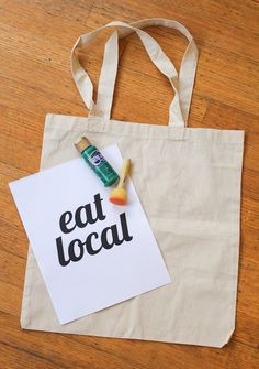 Farmers' Market Tote or make one for your guests at a shower, birthday party or office gathering.