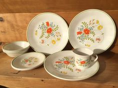 Vintage Cornelle Wildflower Set of 11 by TheTravelingTwins on Etsy