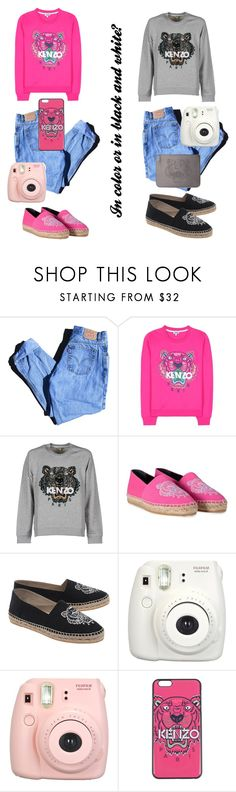 """Untitled #81"" by chanelperez ❤ liked on Polyvore featuring Levi's, Kenzo and Fujifilm"