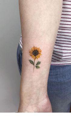Sweet sun flower tattoo