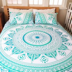 Twin Mandala Tapestry Indian Wall Hanging Bohemian Hippie Ombre Bedspread Throw…