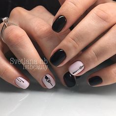 маникюр - дизайн ногтей Cute Nail Art, Cute Nails, Mani Pedi, Manicure And Pedicure, Disneyland Nails, La Nails, Minimalist Nails, Nail Bar, Perfect Nails