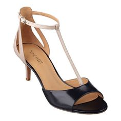 Comfortable, stylish and gorgeous - you simply can't beat that. Our Gaget t-strap sandals feature and ankle strap with golden buckle closure. Leather upper. Padded footbed for all-day comfort. Leather upper. Man-made lining and sole. Imported. 2 1/2 inch heels. Women's shoes. See our entire collection of T-strap sandals.