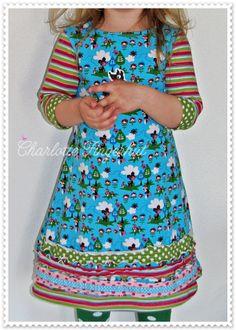 lillesol & pelle Schnittmuster/ pattern: Jerseykleid mit Uboot-Ausschnitt