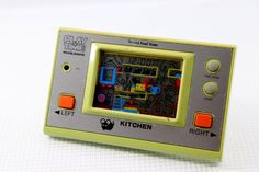 "80s Retro Masudaya LCD Game Watch ""Play & Time"" Kitchen MIJ Good Condition #Masudaya"