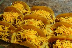 Joyously Domestic: Baked Tacos - Including Two Tricks for Taking Your Tacos from Average to Amazing!