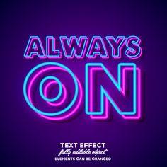 Simple Bold Neon Font Effect Font Art, Typography Fonts, Text Design, Book Design, Neon Azul, Make A Quote, Monkey Wallpaper, Sign Fonts, Neon Noir