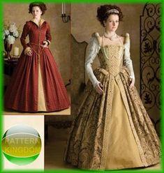Simplicity 3782 Elizabethan/Renaissance Princess Gown Patterns