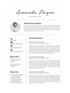 To get the job, you a need a great resume. The professionally-written, free resume examples below can help give you the inspiration you need to build an impressive resume of your own that impresses… Resume Layout, One Page Resume, Resume Format, Resume Tips, Resume Writing, Resume Examples, Basic Resume, Creative Cv Template, Simple Resume Template