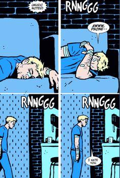 "Poor Clint. (""Hawkeye"" #13) << Hawkeye speaks to my soul"