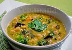 Sopa de Grão de Bico com Cogumelos  e Legumes