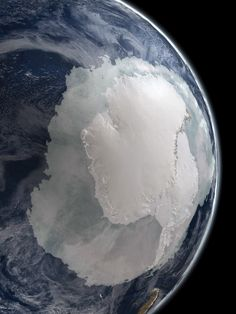 Visualization of the Earth's South Pole and Antarctica from NASA by Stuart Rankin https://www.flickr.com/photos/24354425@N03/8236205132/ #Photography #Space #Earth #South_Pole #Antarctica