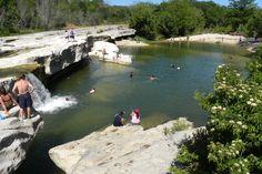McKinney Falls State Park near Austin Texas camping, hiking, swimming picnic