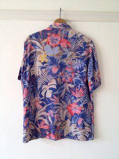 cacharel blouse / hawaiian shirt womens / tropical by dinalouiseSF