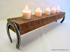 DIY: Horseshoe candle holder