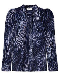 Pyrus Penelope top - ocelot - The Penelope in a beautiful blue/purple ocelot print, is a super new design from Pyrus with added elements of edginess. Dress Outfits, Fashion Dresses, Blouses Uk, Feather Stitch, Pyrus, Blouse Dress, Friends In Love, Hemline, Personal Style