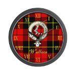 wallace clan badge and tartan clock $19.99 #home #decor #clocks #clock #scottish #clan #crest #tartan #badge