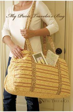 My Paris Traveler's Bag Pattern $