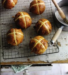 Hot Cross Buns are synonymous with Easter in Ireland. Whatever their origins, they are delicious, especially toasted with plenty of butter.