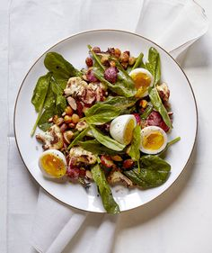 Roasted Cauliflower and Radish Salad With Soft-Cooked Eggs | Tasty vegetables and healthy whole-grains take center stage in these delicious mains.
