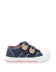 Velcro Strap Denim Sneakers