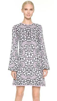 $1395 Giamba Long Sleeve Knit Dress