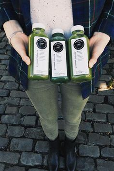 Good things come in threes. #Greens #PressedJuicery