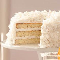 Easter Dessert: Elegant (and delicious) Favorite Coconut Cake, #tasteofhome #easterdinner
