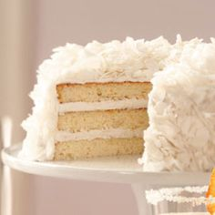 Easter Dessert: Elegant (and delicious) Favorite Coconut Cake, #tasteofhome #easterdinner