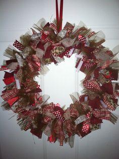 Gingerbread Rag Wreath Gingerbread Ribbon by RagWreathsbyMissVal, $35.00