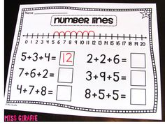 Adding 3 Numbers Number Lines addition of 3 addends strategy