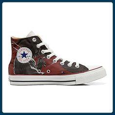 Converse Customized Adulte - chaussures coutume (produit artisanal) Gold Paisley size 32 EU wihnp