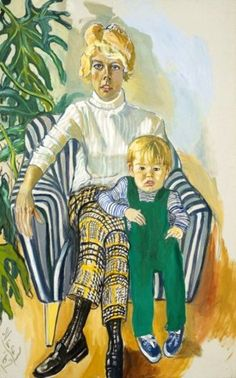 Paul Gardner And Sam by Alice Neel. — you can really see the relationship between the woman and child. In this case the child seems to be astray and antsy the mother looks to be controlling Alice, Figure Painting, Painting & Drawing, Woman Painting, Modern Art, Contemporary Art, Portraits, Museum Of Fine Arts, American Artists