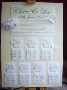 Embossed roses and dainty butterflies adorn the 'Letty' table plan. Table Plans, Traditional Wedding, Facebook Sign Up, Wedding Table, Butterflies, Roses, How To Plan, Frame, Pink