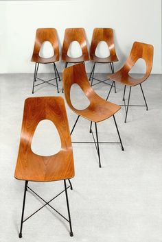 'Ariston' Chairs | Augusto Bozzi | 1957 barefootstyling.com