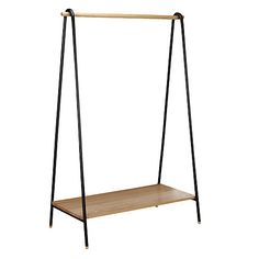 Buy John Lewis & Partners Brooklyn Clothes Rail from our Clothes Rails & Fabric Wardrobes range at John Lewis & Partners. Drawer Shelves, Wooden Shelves, Dress Like A Parisian, Standing Coat Rack, Clothes Rail, Clothes Hanger, Small Closet Organization, Hanger Rack, Hanging Rail