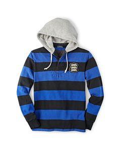 Striped Cotton Hooded Rugby - Polo Ralph Lauren Custom-Fit  - RalphLauren.com
