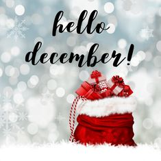 Goodbye November and Hello December! Hello December Quotes, Hello December Images, Hello November, Happy New Month December, Merry Christmas, Christmas Events, Christmas Time, Xmas, Green Christmas