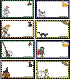 FREE printable halloween tags - for your treat bags ^^ | FREE ...
