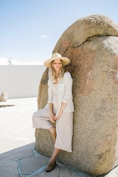 Simple linen basics that will redefine the essentials in your wardrobe to become your new uniform. These nursing friendly classic women's pieces are sustainably made in Los Angeles. Bump Style, Ethical Fashion, Breastfeeding, Panama Hat, Pregnancy, Long Sleeve, Shopping, Collection, Women