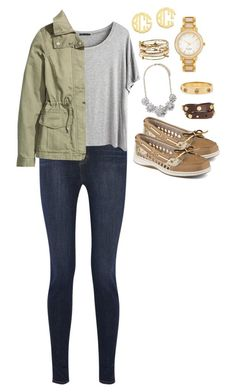 """Untitled #15"" by l-deutsch99 on Polyvore featuring QVC, J Brand, Chicnova Fashion, H&M, Kate Spade, Alex and Ani, Sperry Top-Sider, Forever 21 and Tory Burch"