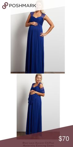 Pink blush maternity dress Pink blush size small evening dress with rap shown in blue color new with tags never worn pink blush Dresses