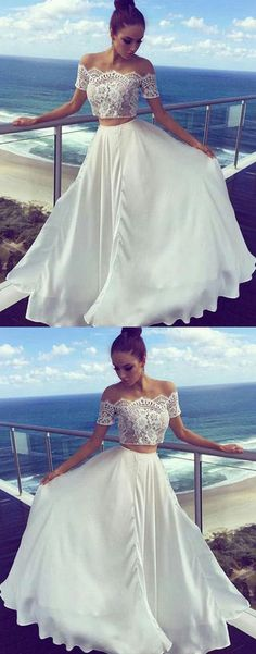 Two Pieces Off The Shoulder Prom Dresses,Long Prom Dress,Cheap Prom Dresses, Evening Dress Prom Gown Prom Dresses Two Piece, A Line Prom Dresses, Formal Dresses For Women, Cheap Prom Dresses, Cheap Wedding Dress, Homecoming Dresses, Women's Dresses, Evening Dresses, Dress Prom
