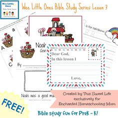 Wee Little Ones Bible Study Series Lesson 3 with FREE Printable - Enchanted Homeschooling Mom
