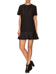 Crochet Inset Shirt Dress by Thakoon at Gilt
