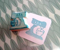 Retro Kitchenaid Stamp - Corrabelle - Etsy