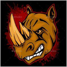 Rhino Athletic Design Complete with Rhinoceros - Miscellaneous Vectors Download here : https://graphicriver.net/item/rhino-athletic-design-complete-with-rhinoceros/19627379?s_rank=135&ref=Al-fatih