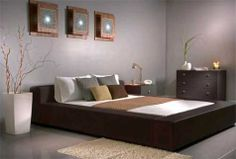 Platform bed and furniture placement appeals to me