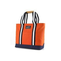 Canvas / PU Tote à Orange